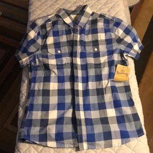 Brand new men's plaid Roebuck medium shirt